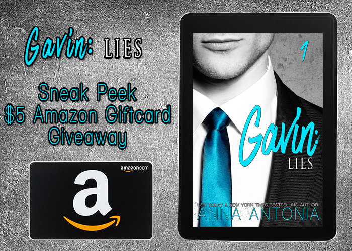 Gavin: Lies $5 Sneak Peek Amazon Gift Card Giveaway